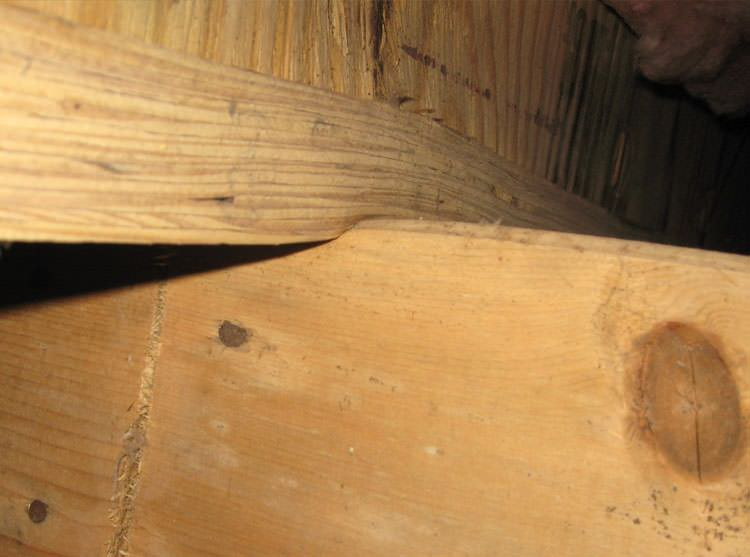 A Failing Girder Showing Signs Of Compression Damage In Athol Home