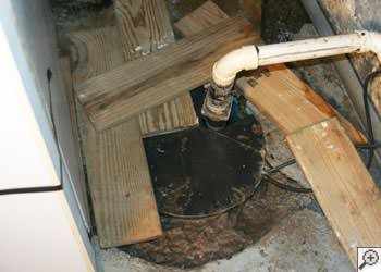 An ugly, clogged sump pump system in Veradale, Idaho and Washington