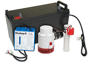 a battery backup sump pump system in Medical Lake