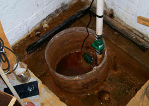 Extreme clogging and rust in a Medical Lake sump pump system