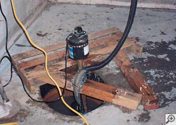 A Colbert sump pump system that failed and lead to a basement flood.