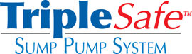 Sump pump system logo for our TripleSafe™, available in areas like Pinehurst