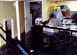 A laundry room flood in Greenacres, with several feet of water flooded in.