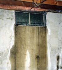 Flooding through basement windows in a Elk home.