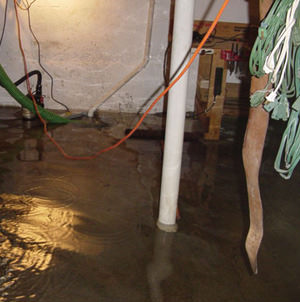 Foundation flooding in a Deer Park,Idaho and Washington home