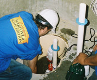installing a sump pump and backup sump pump system in Oldtown, ID and WA