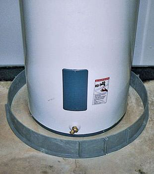 An old water heater in Newman Lake, ID and WA with flood protection installed