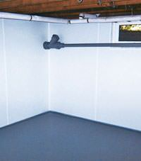 Plastic basement wall panels installed in a Mead, Idaho and Washington home