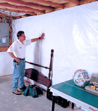 Plastic 20-mil vapor barrier for dirt basements, Mead, Idaho and Washington installation