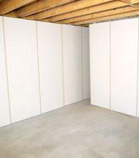 Unfinished basement insulated wall covering in Mead, Idaho and Washington
