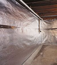 Radiant heat barrier and vapor barrier for finished basement walls in Mead, Idaho and Washington